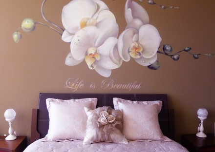 Orchid mural